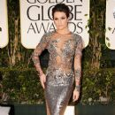 Lea Michele arrives at the 69th Annual Golden Globe Awards held at the Beverly Hilton Hotel on January 15, 2012 in Beverly Hills