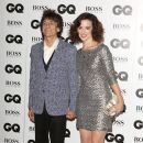 Ron Wood and Sally Humphreys attend the 2013 GQ Men Of The Year Award on September 3, 2013