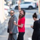 Dave Grohl is seen at 'Jimmy Kimmel Live' in Los Angeles, California - 411 x 600
