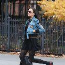 Famke Janssen – Leaving the gym in New York