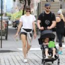 Jessica Biel and Justin Timberlake go for a walk in Tribeca - 454 x 303