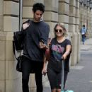 Lucy Fallon in Ripped Jeans – Out in Manchester - 454 x 668