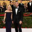 Naomi Watts and Liev Schreiber At The 21st Annual Screen Actors Guild Awards - Arrivals (2015)