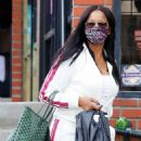 Garcelle Beauvais – Exiting a hair store in Los Angeles - 454 x 681