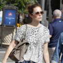 Mandy Moore and husband Ryan Adams shopping at Barnes and Noble in West Hollywood, CA (August 4)