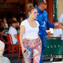 Jennifer Lopez in Leggings Out in New York City - 454 x 701