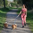 Yazmin Oukhellou – Walking her dogs in Harlow