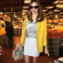 Miranda Kerr out picking up a few things at Whole Foods grocery store in West Hollywood, California on December 28, 2012