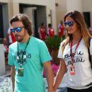 Fernando Alonso and Lara Álvarez @ 2015 Abu Dhabi GP
