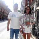 Danielle Lloyd and her husband Michael O'Neill – Seen at Sexy Fish in Mayfair - 454 x 688