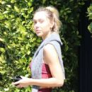 Alexis Ren – Is seen heading to gym in Los Angeles