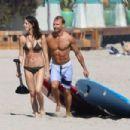 Ashley Greene showing off her bikini body on the beach in Malibu (August 20)