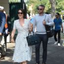 Candice Brown and fiance Liam Macaulay – Arriving at Wimbledon Tennis Tournament in London - 454 x 611