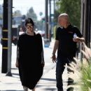 Kat Von D in Long Black Dress – Out and about in Los Angeles - 454 x 597