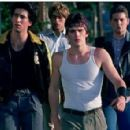 (L-R) NICOLAS CAGE as Smokey, VINCENT SPANO (left back) as Steve, MATT DILLON as Rusty James and CHRIS PENN as B.J. Jackson in Universal Pictures' Rumble Fish -2005.