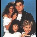 Patrick Dempsey,Carrie Fisher,Kim Miyori and Kirstie Alley in Loverboy (1989)