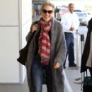 Sharon Stone Arriving For A Flight At LAX