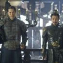 Warrior Ming Guo (RUSSELL WONG) and the vicious Emperor (JET LI)
