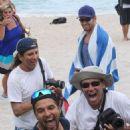 Kellan Lutz enjoying the ocean during a trip to the beach in Miami, FL (July 10)