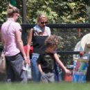 Nicole Richie is spotted taking her children Sparrow and Harlow to the Kidspace Children's Museum in Pasadena, California on July 22, 2015 - 454 x 340