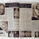 Marlene Dietrich - Hola! Magazine Pictorial [Spain] (6 July 1957) - 454 x 340