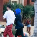 Kendall Jenner out with a friend in Beverly Hills