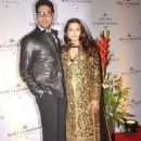 Abhishek Bachchan and Aishwarya Rai at Abu Jani and Sandeep's 25th year bash