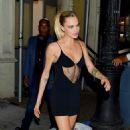 Cara Delevingne in Black Mini Dress – Leaves The Wing in New York