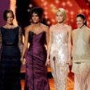 Minka Kelly, Annie Ilonzeh, Rachael Taylor, and Drew Barrymore at The 63rd Primetime Emmy Awards (2011) - 454 x 326