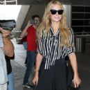 Paris Hilton At Lax Airport In La