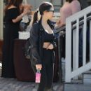 Kourtney Kardashian – All in black out in Los Angeles