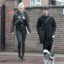 Sophie Turner and Joe Jonas – Walking their dog Porky Basquiat in London