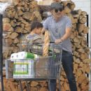 Olivier Martinez and his son Maceo are spotted out grocery shopping at Bristol Farms in West Hollywood, California on April 10, 2016 - 447 x 600