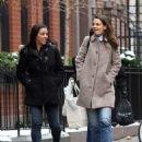 Katie Holmes walks with her friend around Manhattan, New York's West Village neighborhood on January 10, 2017 - 454 x 560