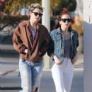 Kristen Stewart and Sara Dinkin in Jeans – Out in Los Angeles