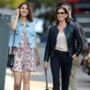 Teri Hatcher goes for a walk with her daughter Emerson Tenney on August 14, 2015 in New York City - 424 x 600