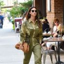 Lily Aldridge in Green Outfit – Out in New York City - 454 x 671