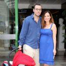 Elena Karpodini and Vasilis Liatsos- leaving the maternity clinic August 2016 - 454 x 645
