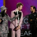 Billie Eilish, Finneas and Ringo Starr speaks onstage during the 63rd Annual GRAMMY Awards at Los Angeles Convention Center on March 14, 2021 in Los Angeles, California