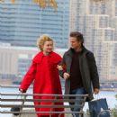 Emmy Rossum and Julia Garner – Filming 'Modern Love' at a Brooklyn Park in NY - 454 x 668