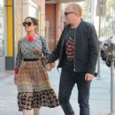 Salma Hayek and Francois-Henri Pinault are spotted out at a doctors office in Beverly Hills, California on August 29, 2016 - 435 x 600