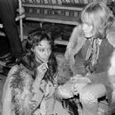 Donyale Luna and Brian Jones  during the filming of the Rolling Stones Rock & Roll Circus, December 1968 - 454 x 466