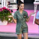 Adriana Lima on set of American Beauty Star in Los Angeles