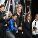 Metallica pose in the press room during the 24th Annual Rock and Roll Hall of Fame Induction Ceremony at Public Hall on April 4, 2009 in Cleveland, Ohio