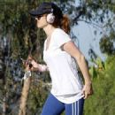 Isla Fisher hiking through Runyon Canyon in the Hollywood Hills (August 14)
