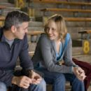 """Company downsizer and frequent flyer Ryan Bingham (George Clooney, left) finally meets a woman with a similar case of corporate wanderlust, Alex (Vera Farmiga, right), in the dramatic comedy """"Up in the Air,"""" a Paramount Pictures release. Photo"""
