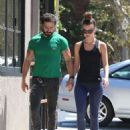 Shia LaBeouf — Out for lunch with his girlfriend Mia Goth in Los Angeles — August 22, 2014 - 454 x 594
