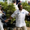 Juan Pablo Montoya and Connie Fraydell