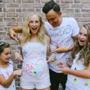 Joe King (guitarist) and Candice Accola With Elise and Ava King From previous relationship