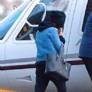 Selena Gomez out with friends before jumping in a Helicopter in NYC